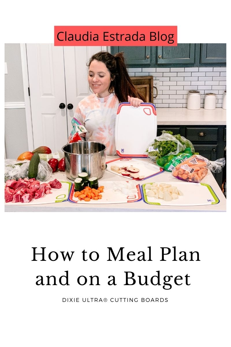 meal planning with disposable boards